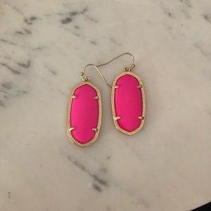 Kendra Scott Elle Earrings- Hot Pink